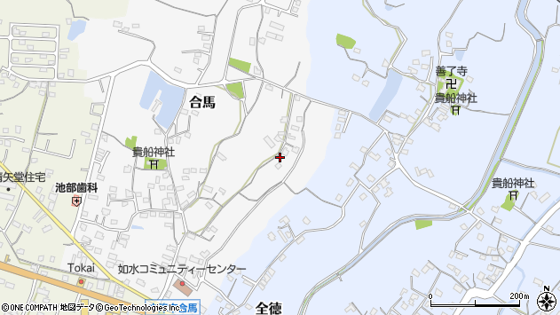 大分県中津市合馬47周辺の地図