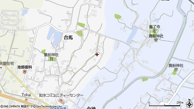 大分県中津市合馬34周辺の地図