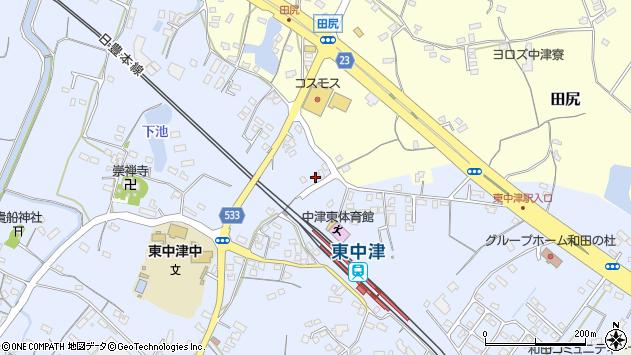 大分県中津市是則923周辺の地図