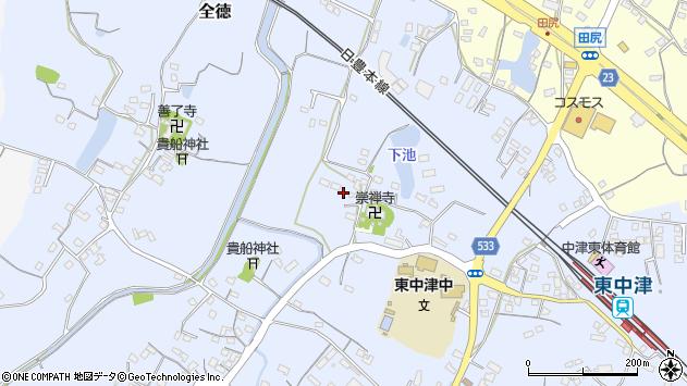 大分県中津市是則413周辺の地図