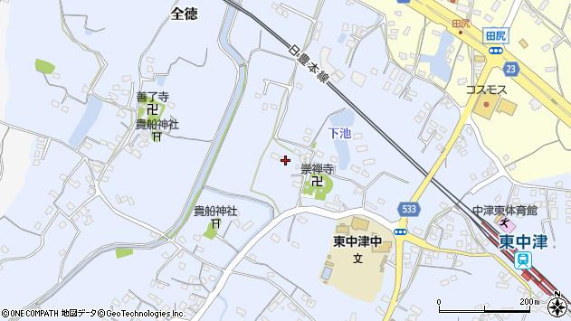 大分県中津市是則425周辺の地図