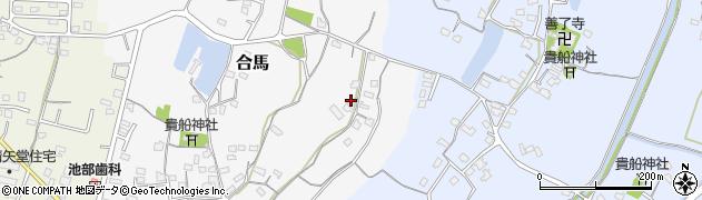 大分県中津市合馬36周辺の地図