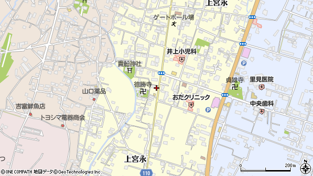 大分県中津市上宮永1096周辺の地図