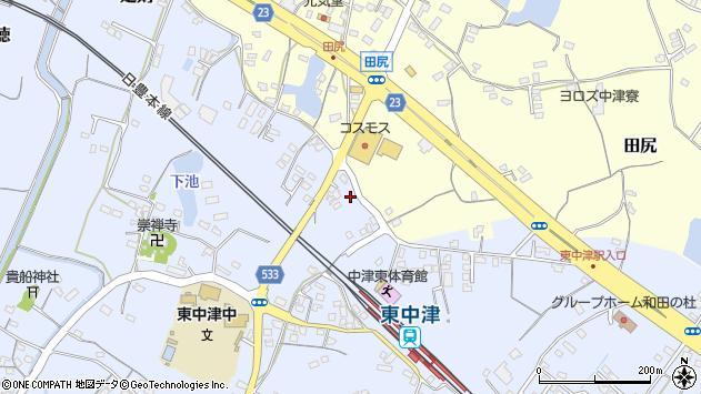 大分県中津市是則938周辺の地図