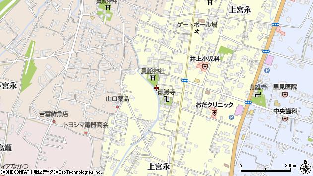 大分県中津市上宮永1105周辺の地図