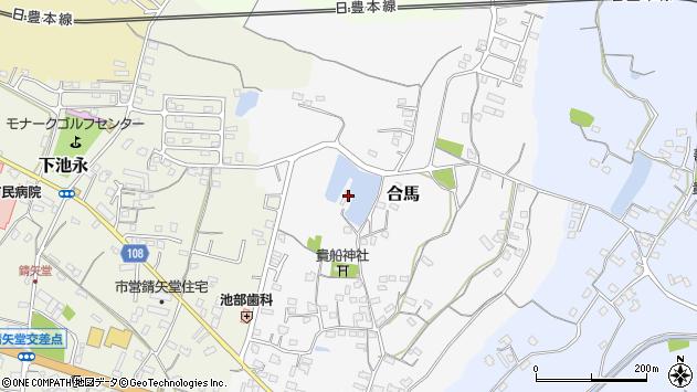 大分県中津市合馬345周辺の地図
