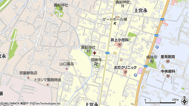 大分県中津市上宮永1122周辺の地図