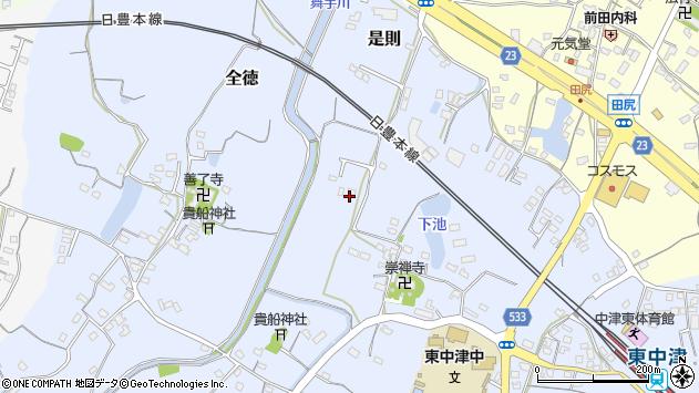 大分県中津市是則301周辺の地図