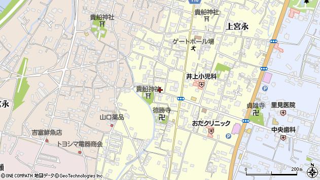 大分県中津市上宮永1128周辺の地図