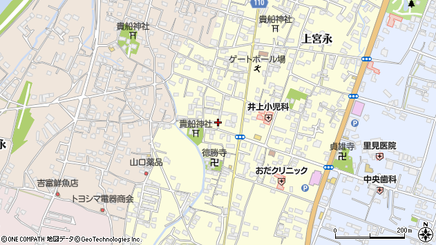 大分県中津市上宮永1132周辺の地図
