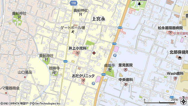大分県中津市上宮永244周辺の地図