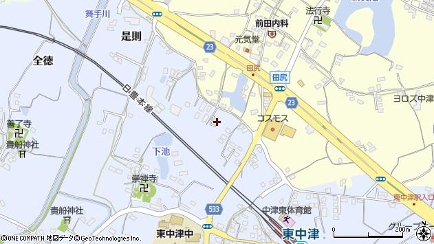 大分県中津市是則468周辺の地図