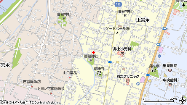 大分県中津市上宮永1145周辺の地図
