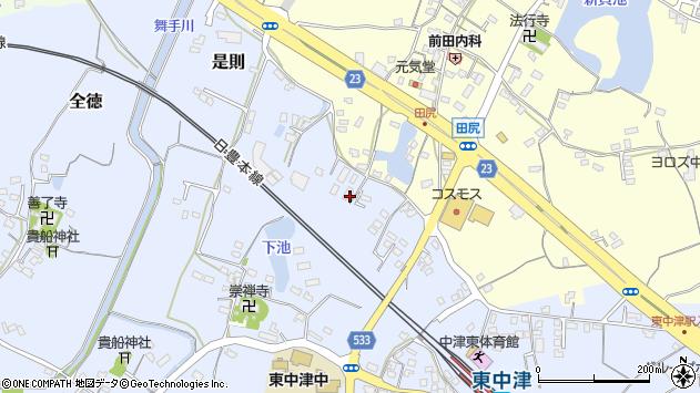 大分県中津市是則375周辺の地図