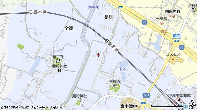 大分県中津市是則302周辺の地図