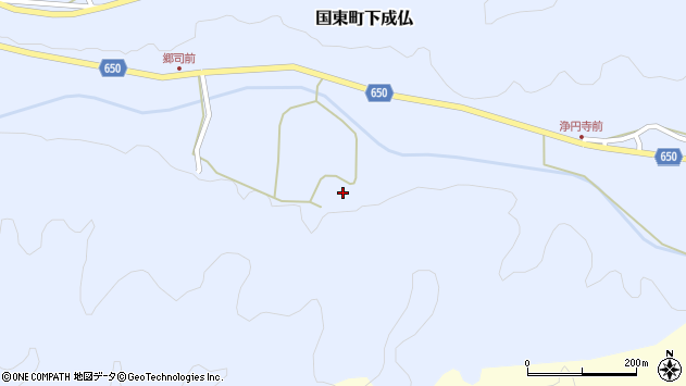 大分県国東市国東町下成仏1782周辺の地図