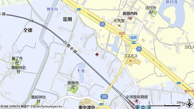 大分県中津市是則370周辺の地図