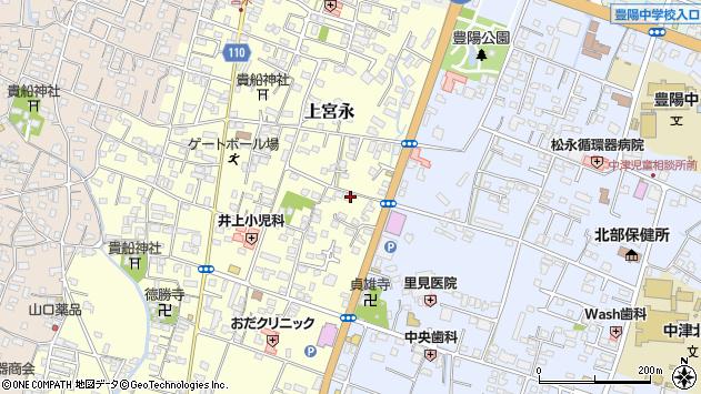 大分県中津市上宮永208周辺の地図