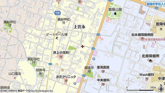 大分県中津市上宮永209周辺の地図