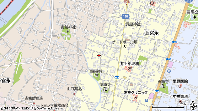 大分県中津市上宮永1170周辺の地図