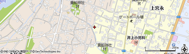大分県中津市上宮永1161周辺の地図