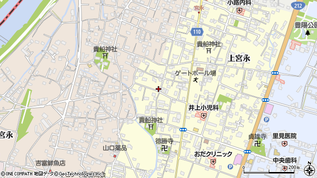大分県中津市上宮永1171周辺の地図