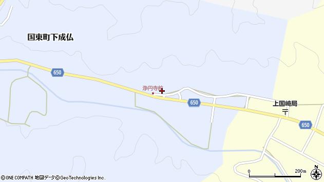 大分県国東市国東町下成仏周辺の地図
