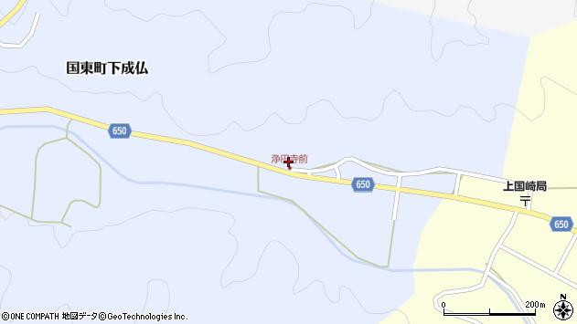 大分県国東市国東町下成仏1100周辺の地図
