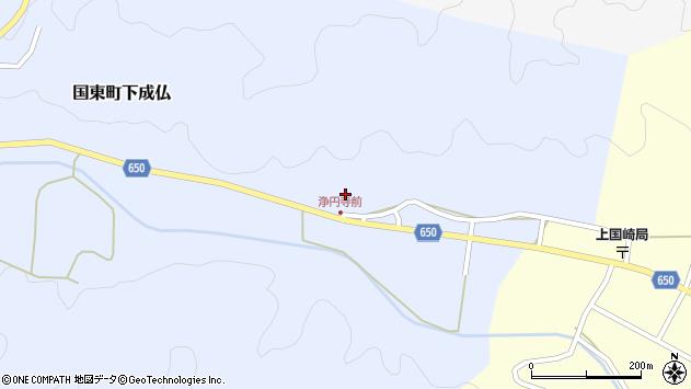 大分県国東市国東町下成仏1101周辺の地図