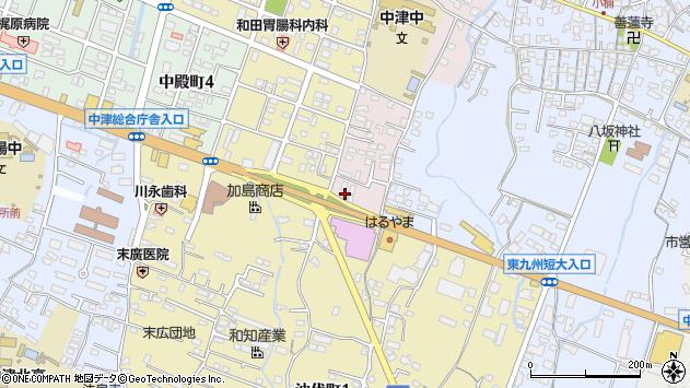 大分県中津市牛神666周辺の地図