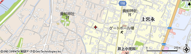 大分県中津市上宮永1188周辺の地図