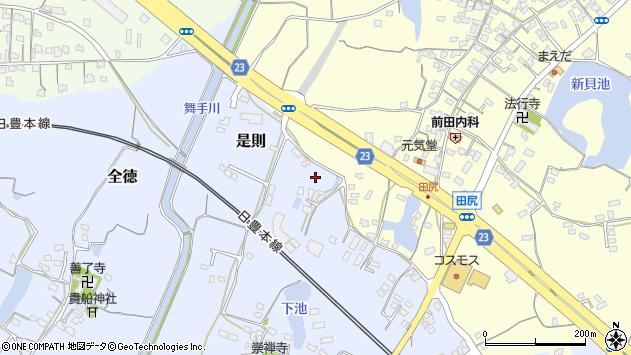 大分県中津市是則345周辺の地図