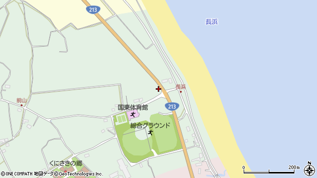 大分県国東市国東町浜崎2571周辺の地図