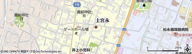 大分県中津市上宮永166周辺の地図