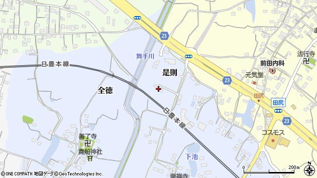大分県中津市是則322周辺の地図