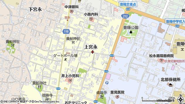 大分県中津市上宮永170周辺の地図