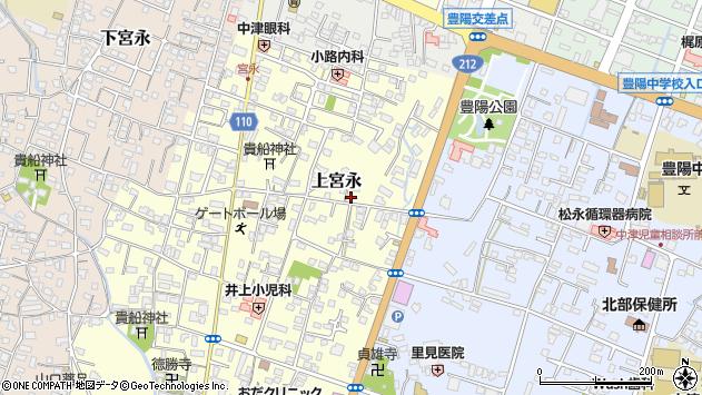 大分県中津市上宮永173周辺の地図