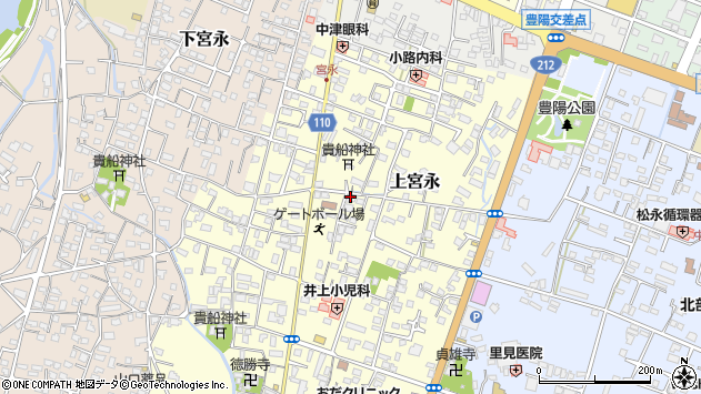 大分県中津市上宮永28周辺の地図