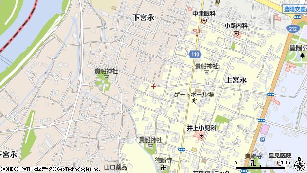 大分県中津市上宮永1191周辺の地図