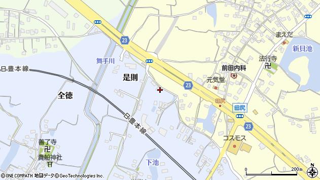 大分県中津市是則339周辺の地図