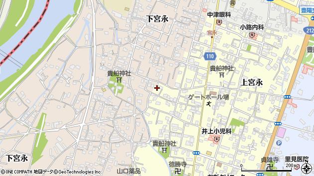 大分県中津市上宮永1195周辺の地図