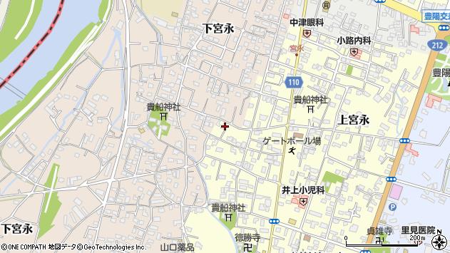 大分県中津市上宮永1194周辺の地図