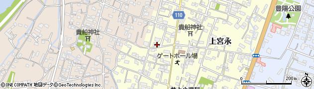 大分県中津市上宮永44周辺の地図