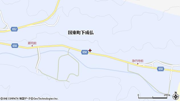 大分県国東市国東町下成仏1163周辺の地図