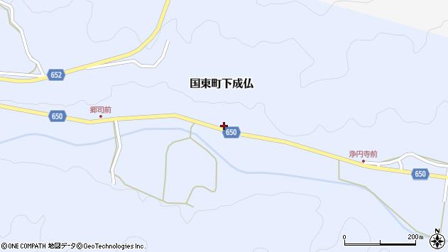 大分県国東市国東町下成仏1014周辺の地図