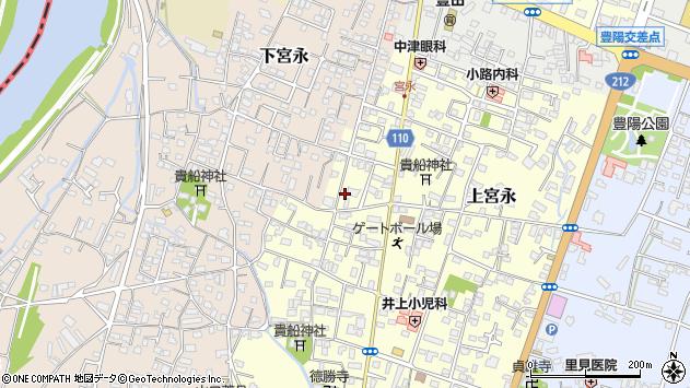 大分県中津市上宮永43周辺の地図