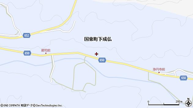 大分県国東市国東町下成仏1005周辺の地図