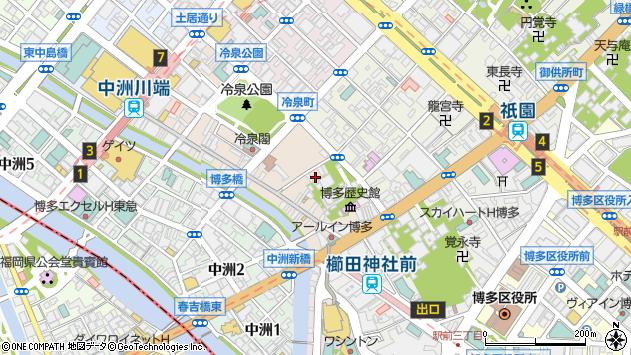 福岡県福岡市博多区上川端町1-31周辺の地図
