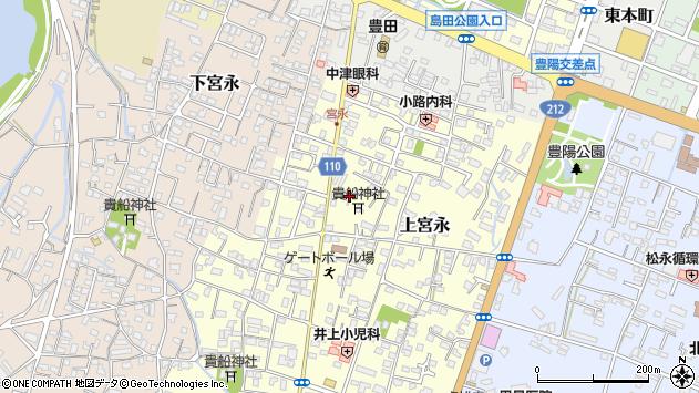 大分県中津市上宮永103周辺の地図