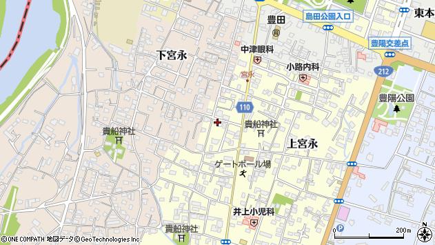 大分県中津市上宮永47周辺の地図
